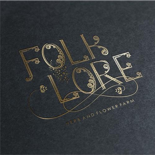 Logo concept for folklore