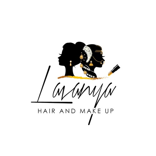 Hair and make up artist logo