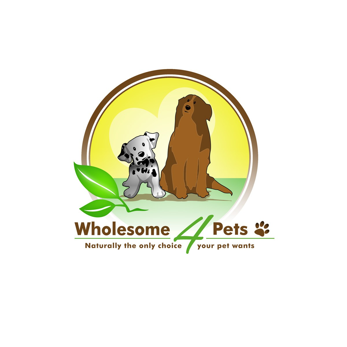 Wholesome 4 Pets needs a new logo