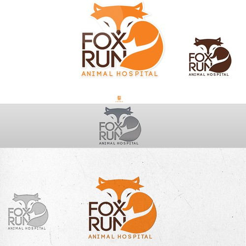 Create a classic brand for a veterinary hospital with modern medicine