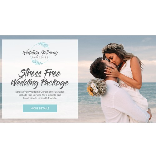 Banner design for Wedding Getaway Paradise