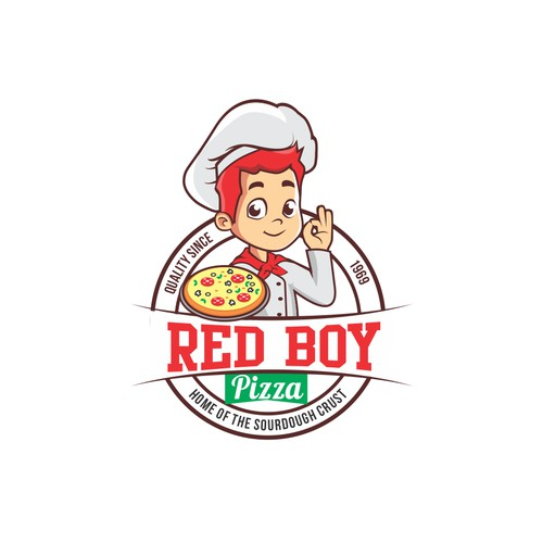 Bold logo concept for pizza