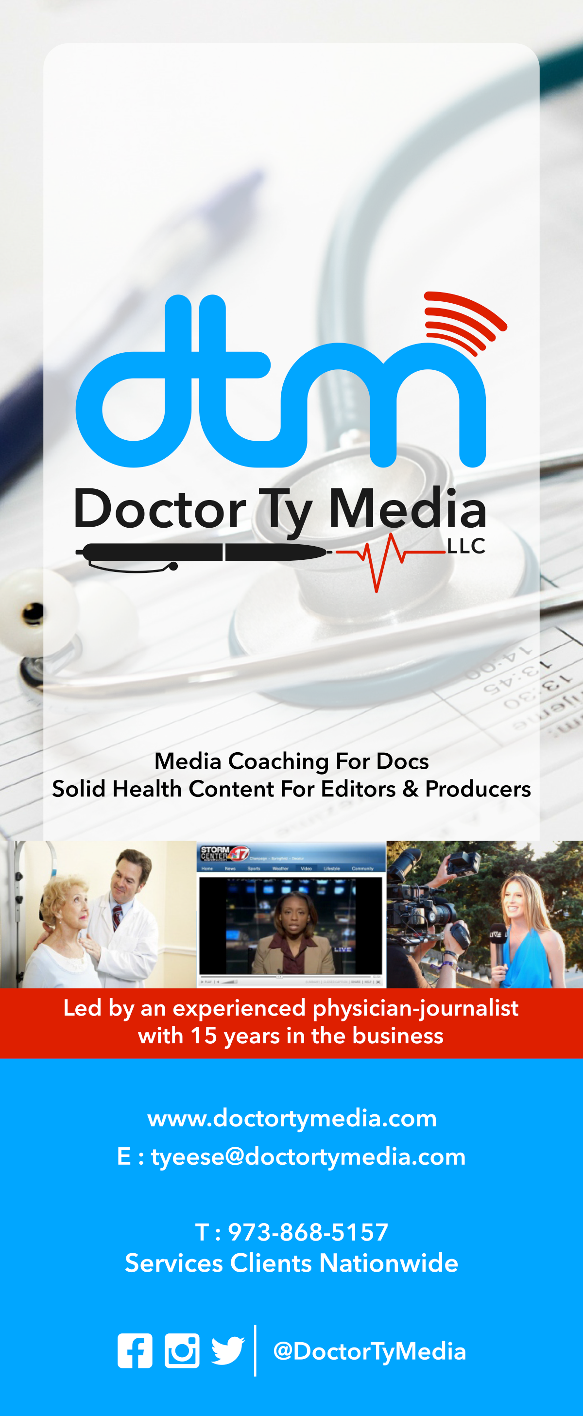 Doctor Ty Media Rack Cards