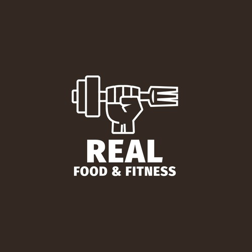 Strong logo concept for food&fitness coaching