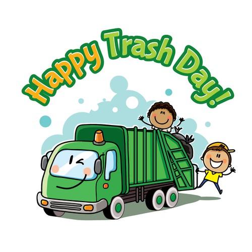 Tshirt design for kid's trash day