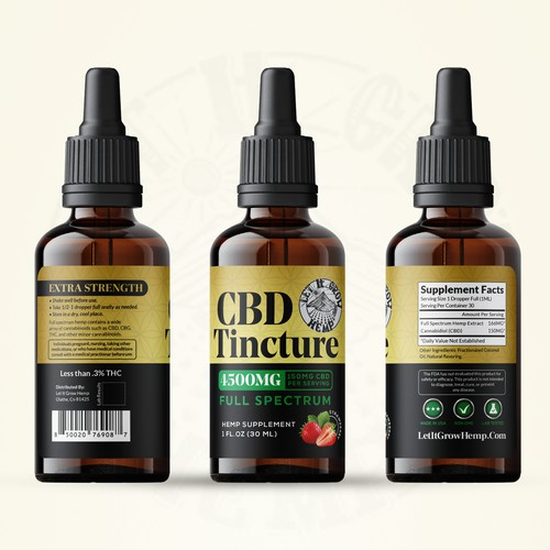 Label design concept CDB Tincture