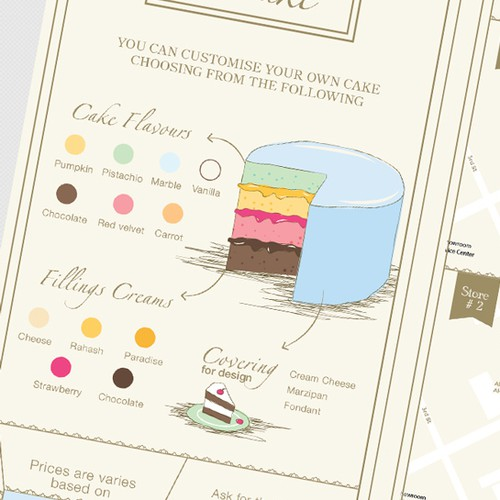 Brochure for a Cake Boutique
