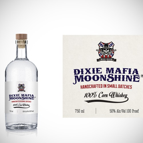 Dixie Mafia Moonshine Label