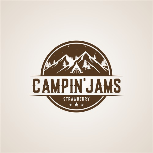 bold logo for campin'jams