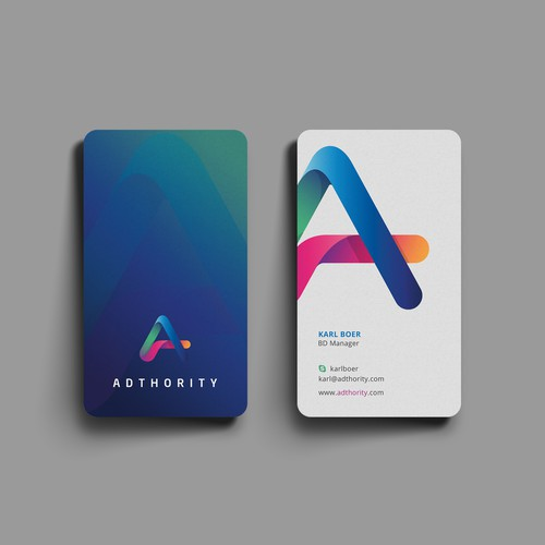 Elegant and vibrant business card