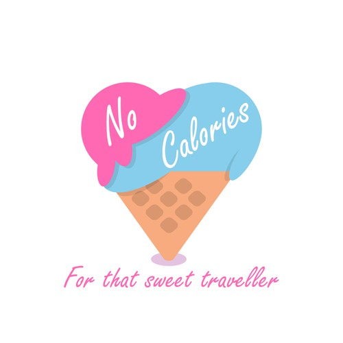 Colorful and fun logo concept for an Ice cream blog