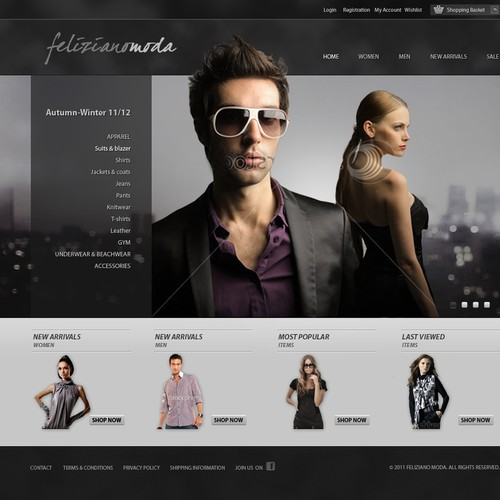 Create the website for feliziano moda!