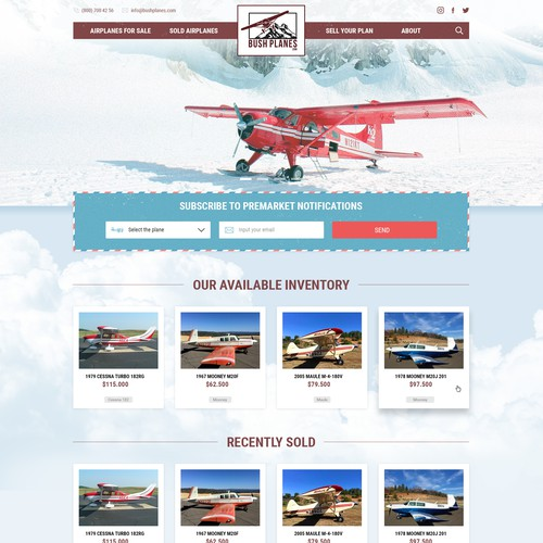 Design vintage airplane site