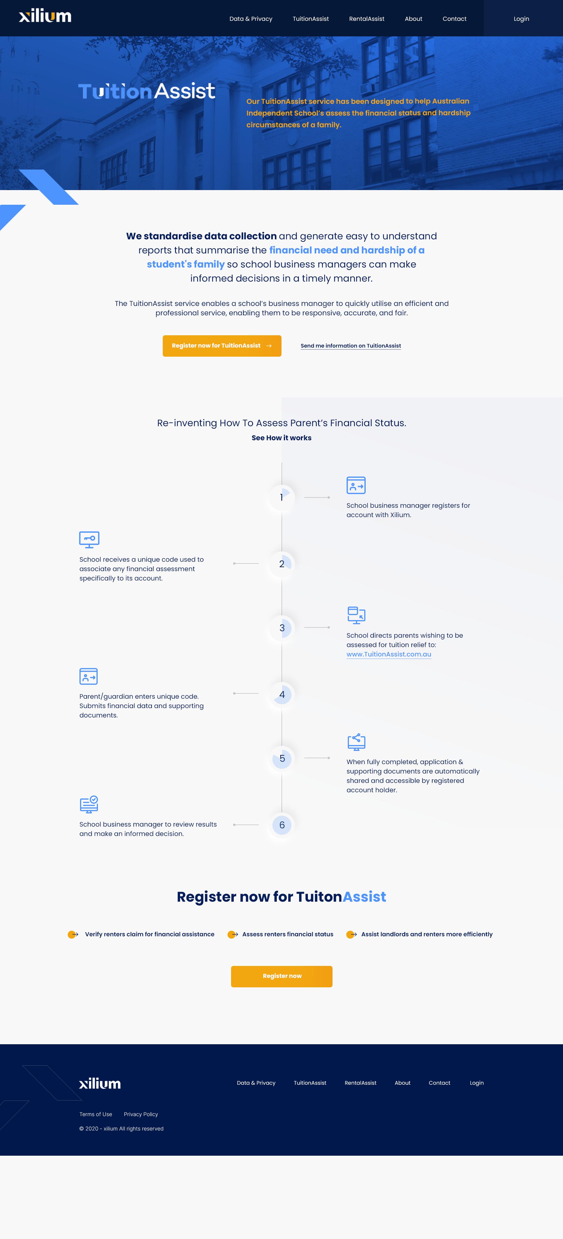 Xilium website design