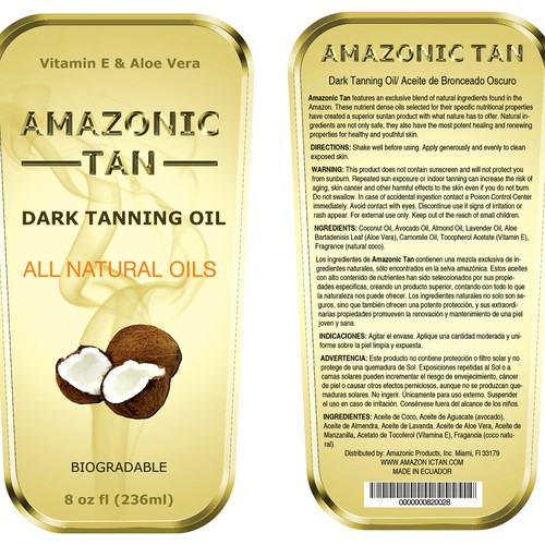 New product label wanted for Amazonic Products Inc