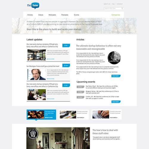 Create a Website for Entrepreneurs