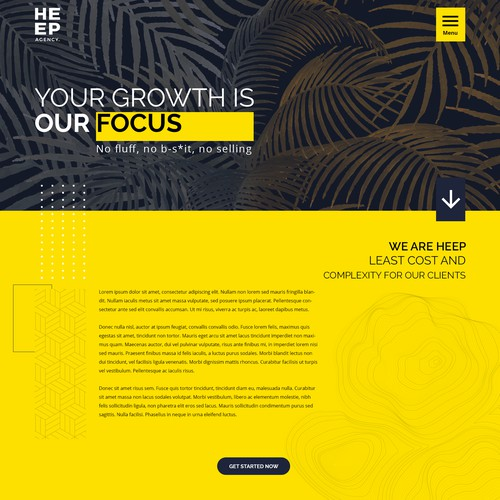 Web design concept for a marketing agency