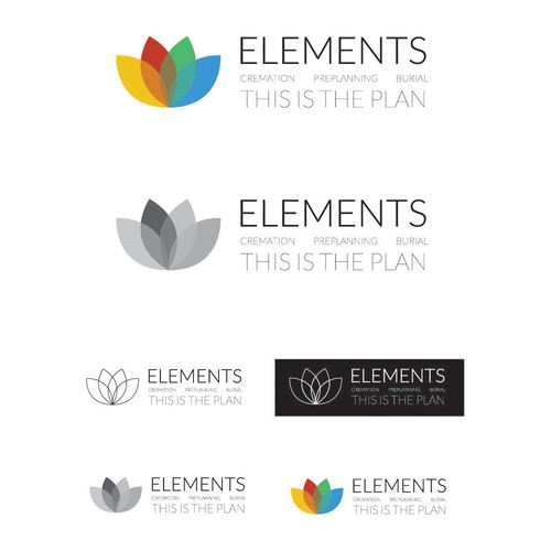 Clean logo design for funeral services