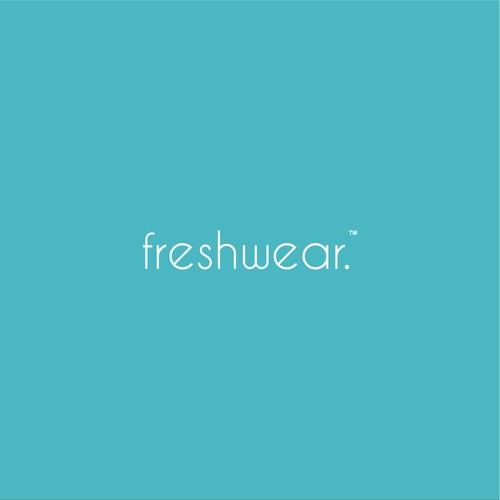 simple minimalist logo for freshwear
