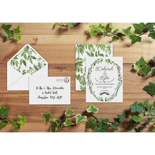 Deborah & Tyler Wedding Invite