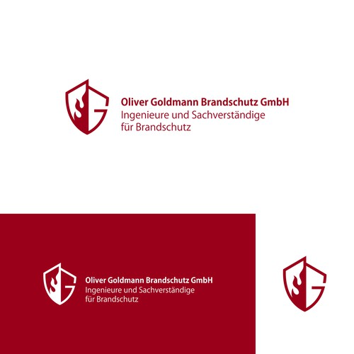 Logo design for: Oliver Goldmann Brandschutz GmbH, Engineers and Expert for life and Safety
