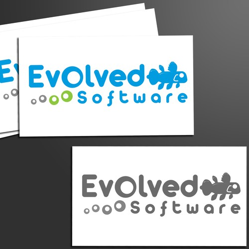 Accompanying Word Art for Evolved Software's Logo