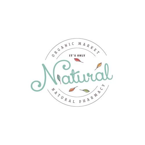 Logo concept for organic market