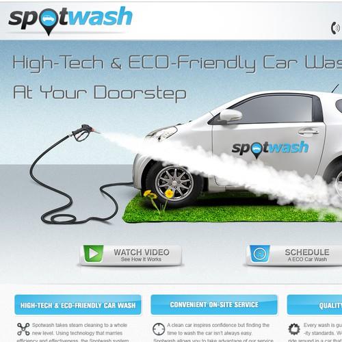 Create the next website design for Spotwash