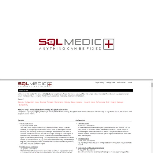New website logo for sqlmedic.com