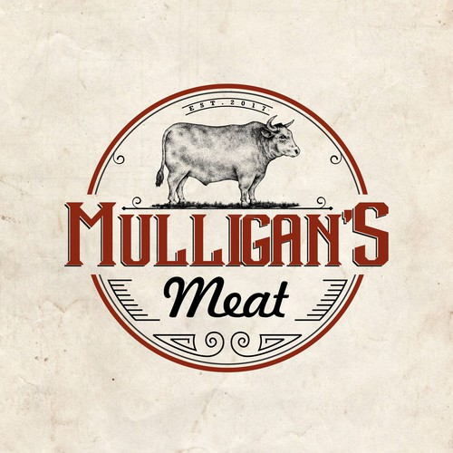 My hand drawing, Logo for Mulligan's Meat