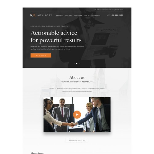 Lawyer Practice Website