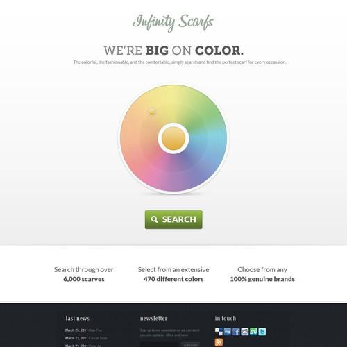 Infinity Scarfs: Web Design