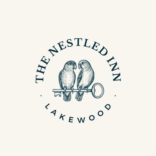 Logo design for high-end, boutique rental company - The Nestled Inn
