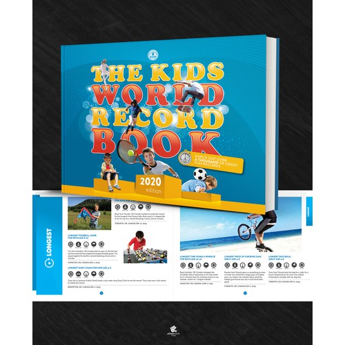 The Kids World Record Book Design