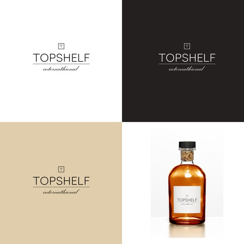 Create a logo for a premium liquor company