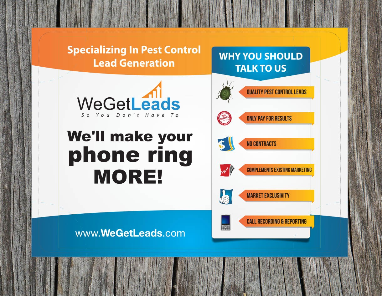 Create the next signage for We Get Leads
