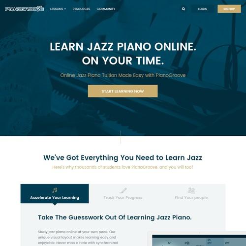 Jazz Piano lesson platform