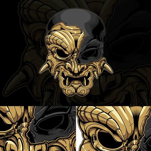 samurai spirit skull