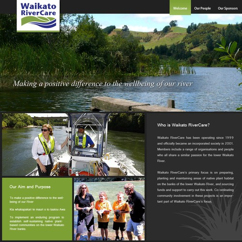 99nonprofits: Design a home page for a New Zealand riparian restoration charity!