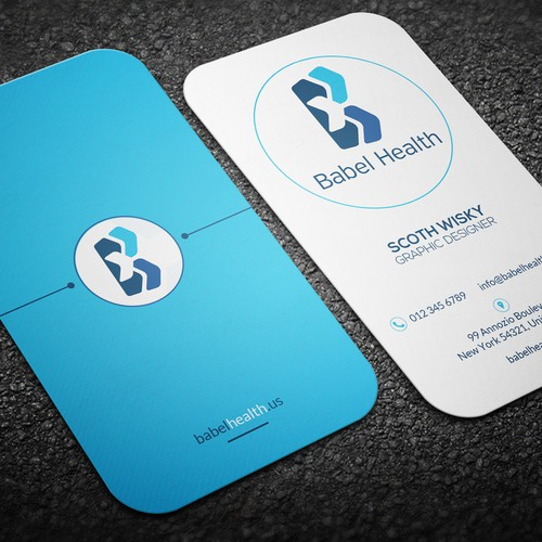 Create a new business card for brand new healthcare startup