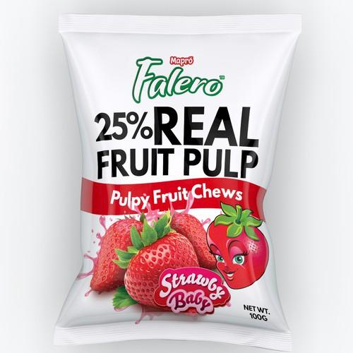 Fruity Chews Packaging design