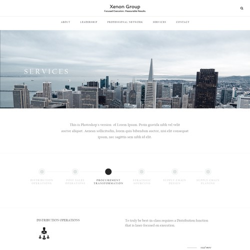 Consulting company services page