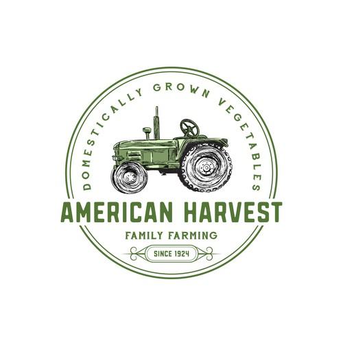Hand drawn logo concept for a local vegetables farm