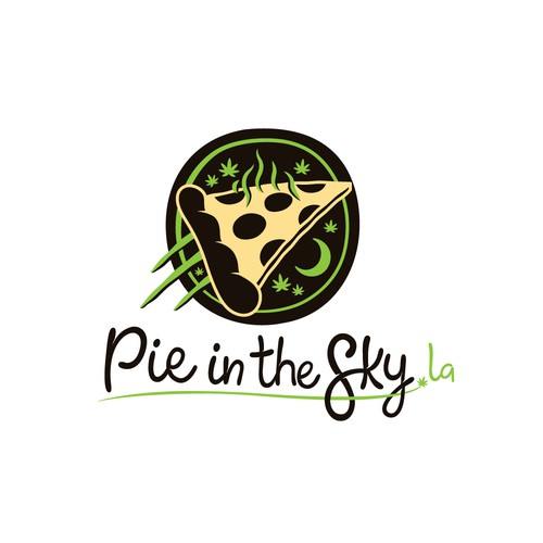 Bold Logo concept for a cannabis infused pizza shop