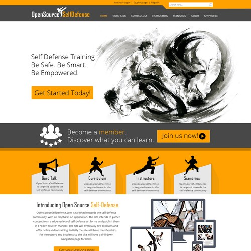 Create a web design for Open Source Self Defense