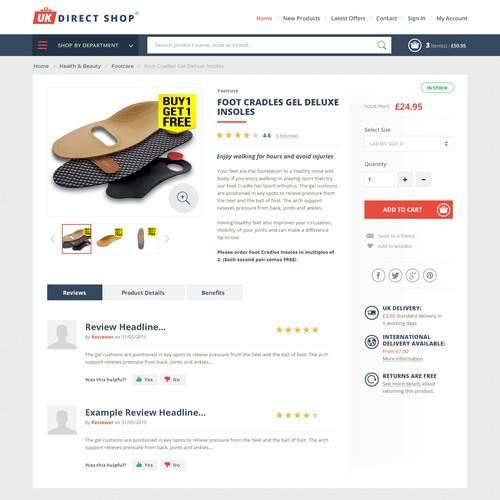 Logo and webdesign for online shop
