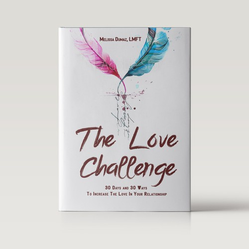 The love challenge book cover design