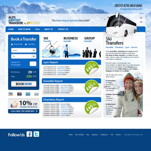 Create the next website design for Alps Airport Transfer
