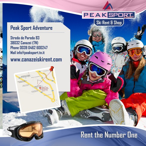 Trifold for Ski shop