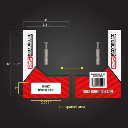 RockYourGlock ziplock packaging design